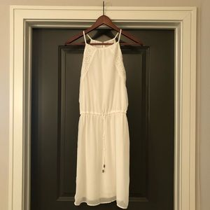 C Dress White Womens Size S